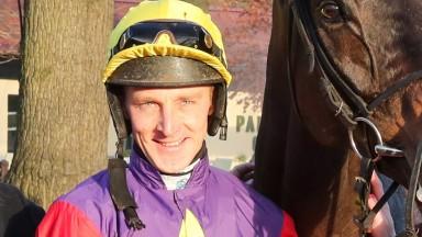 DASHEL DRASHER (Matt Griffiths) wins at HAYDOCK PARK 4/12/19 Photograph by Grossick Racing Photography