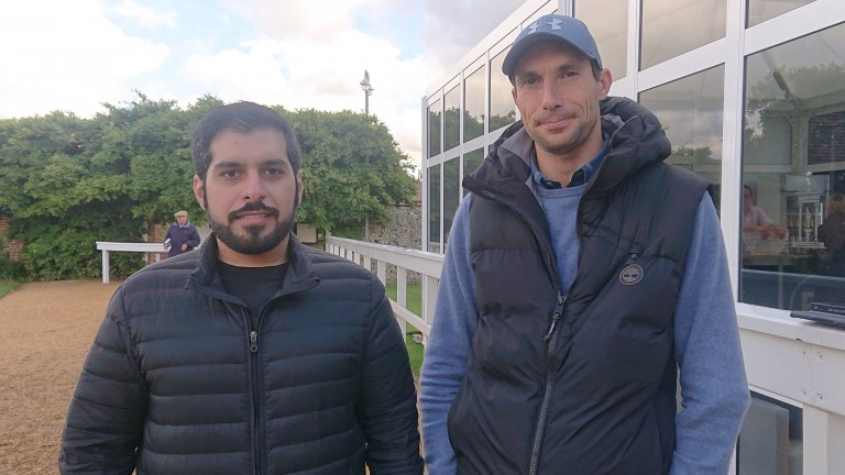 Ahmed Bintooq and Alessandro Marconi scouting for more horses at Tattersalls last week