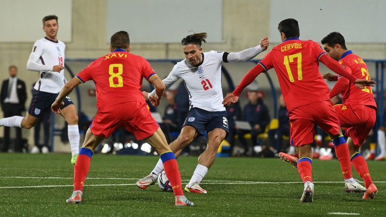 Jack Grealish nets for England against Andorra on Saturday