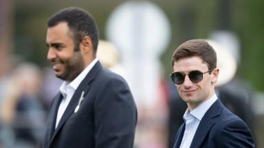 Sheikh Fahad and Oisin Murphy Newmarket 27.8.21 Pic: Edward Whitaker