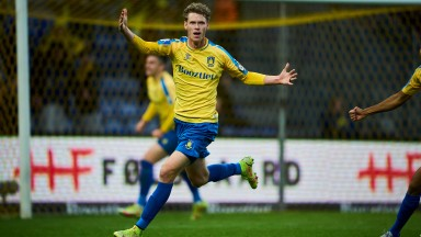 Christian Cappis of Brondby celebrates