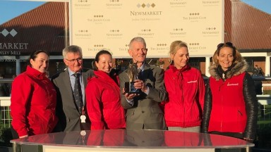 Dave Goodwin receives his lifetime in racing award on behalf of himself and Jean Bucknell