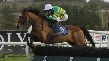 Jody McGarvey on Ciel de Neige wins the Future Ticketing Maiden Hurdle at Limerick RacecoursePhoto: Lorraine O'Sullivan/Racing Post 28.12.2020