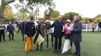 Control Tower surged six lengths clear of her rivals to win the Group 3 Prix Belle de Nuit at Saint-Cloud for trainer Nicolas Clement